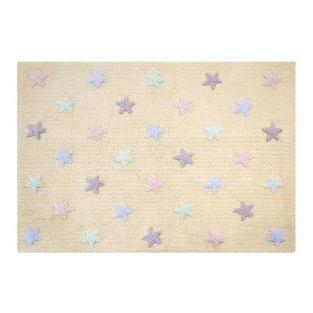 Tapis coton motif - petites étoiles 3...