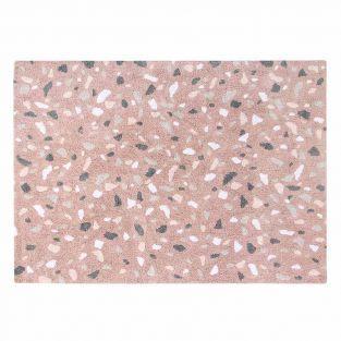 Alfombra de algodón Terra - rosa -...