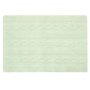 Cotton carpet Braided - green - 120 x 80