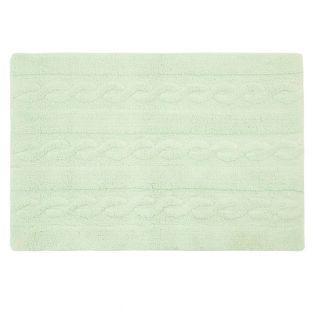 Tapis coton motif tresse - vert - 120...