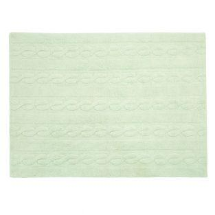 Cotton carpet Braided - green - 120 x...