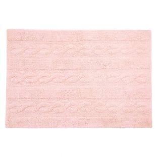 Alfombra de algodón trenzada - rosa -...