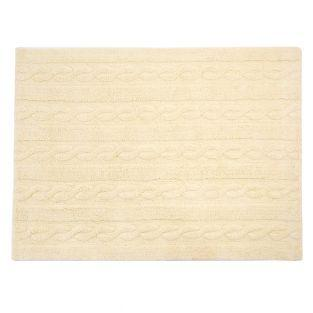 Cotton carpet Braided - vanilla - 120...