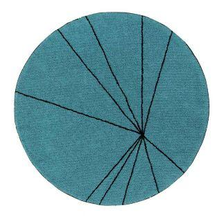 Round cotton carpet with graphic...