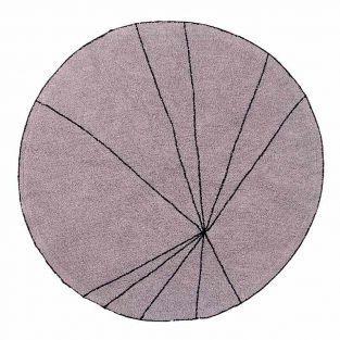 Alfombra redonda de algodón líneas...