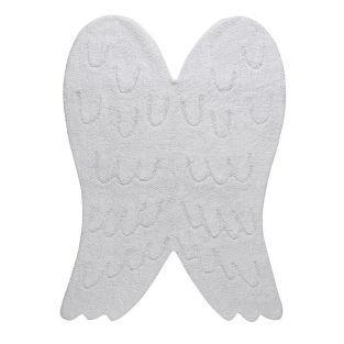 Wollteppich in Flügelform -...