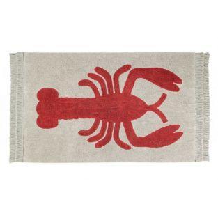 Tapis coton forme homard - 140 x 200 cm