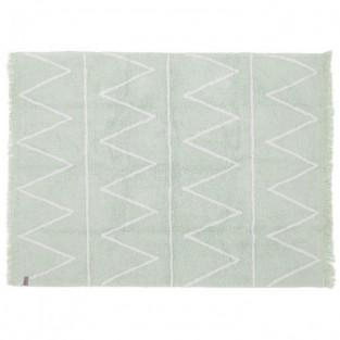Cotton carpet Z pattern - green - 120...