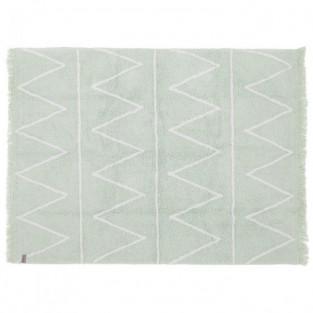 Tapis coton motif Z - vert...