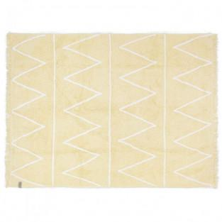 Cotton carpet Z pattern - yellow -...