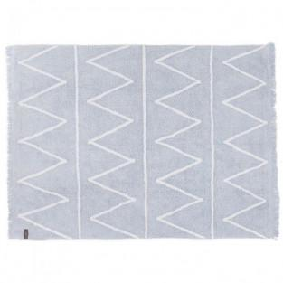 Cotton carpet Z pattern - blue - 120...