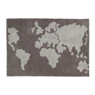 Baumwollteppich Motiv Welt - 140 x 200