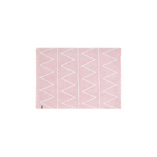 Cotton carpet Z pattern - pink - 120...