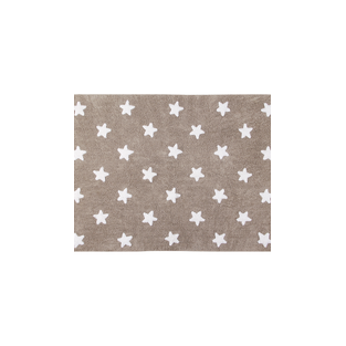 Cotton carpet Star pattern - gray -...