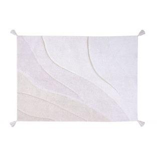 Tapis coton motif dégradé naturel -...