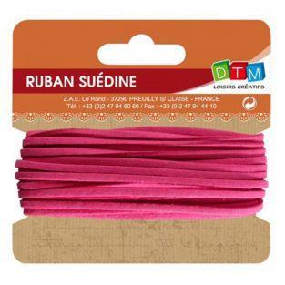 Suede ribbon 5 m - Pink