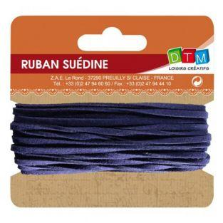 Suede ribbon 5 m - Navy blue
