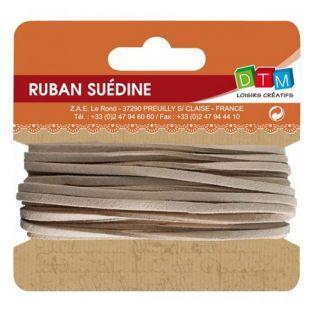 Suede ribbon 5 m - Beige