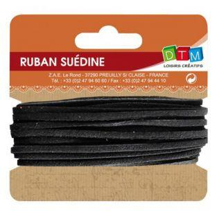 Suede ribbon 5 m - Black