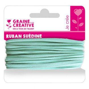 Suede ribbon 5 m - Light blue