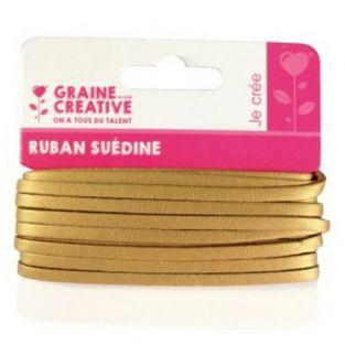Suede ribbon 4,5 m - gold