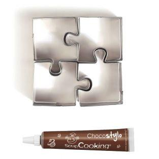 4 mini stainless steel cookie cutters...