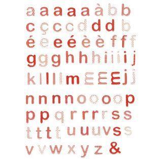 Bolsa de letras epoxi rojas y blancas