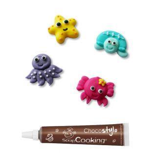 Stylo chocolat + 12 décors sucrés...