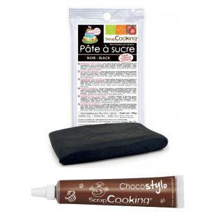 Pasta de azúcar negra 100 g + Tubo de...