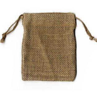 4 burlap bags 9 x 11.5 cm