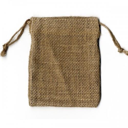 4 bolsas de arpillera 9 x 11,5 cm