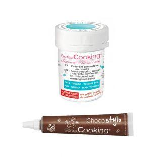 Stylo chocolat + Colorant alimentaire...