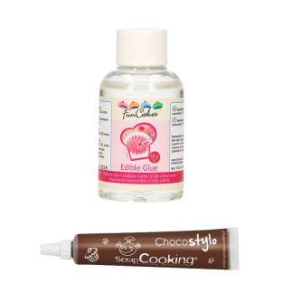 Stylo chocolat + Colle alimentaire 50 g