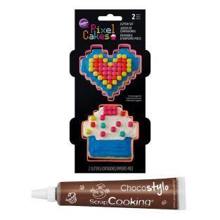 Stylo chocolat + Emporte-pièces à...