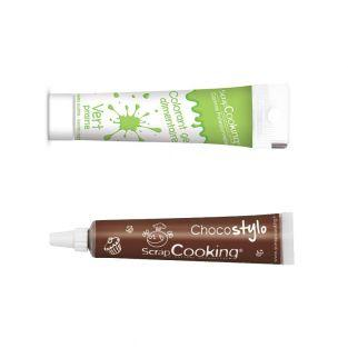 Stylo chocolat + Gel colorant...