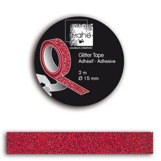 Masking Tape rouge à paillettes