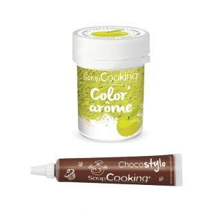 Colorant alimentaire vert arôme pomme...