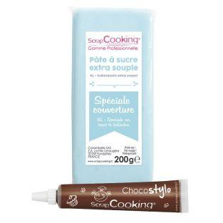 Easy-to-roll sugar paste 200 g light...