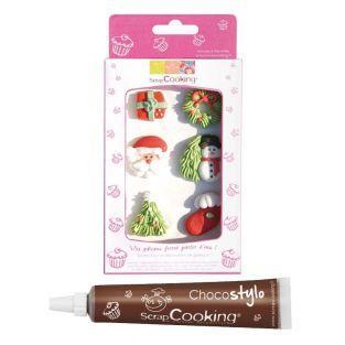 Décors sucrés Noël + Stylo chocolat