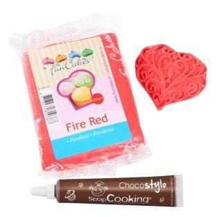 Zuckerteig 250 g Rot + Schokolade aus...