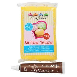 Fondant 250 g Mellow Yellow + Edible...