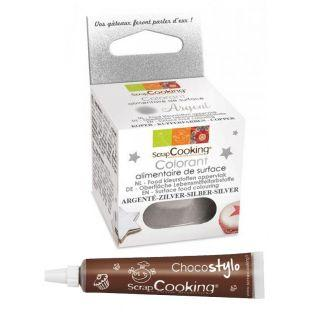Lebensmittelfarbe Pulver 5 g Silber +...