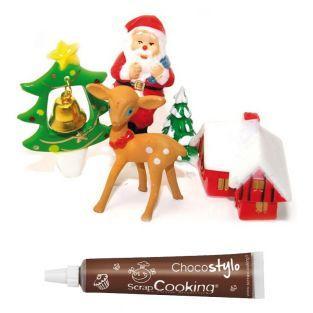 Décoration pour gâteaux de Noël +...