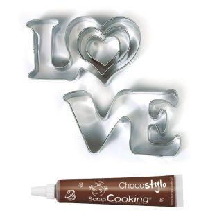 Stainless steel cookie cutters Love +...