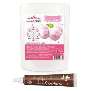 Zubereitung für rosa Zuckerwatte +...