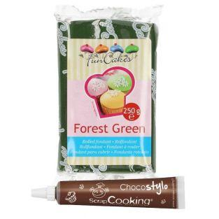 Sugar paste 250 g Fir Green + Edible...