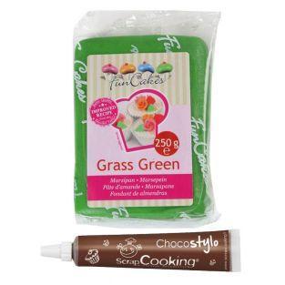 Marzipan Grass Green 250 g + Edible...