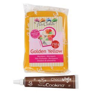 Marzipan Golden Yellow 250 g + Edible...