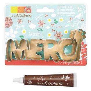 Découpoir à biscuits en inox Merci +...