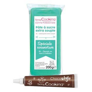 Easy-to-roll sugar paste 200 g Mint +...